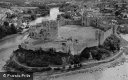 Pembroke, Castle From The Air c.1955