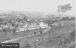 Pembroke Dock, View From Barrack Hill c.1955