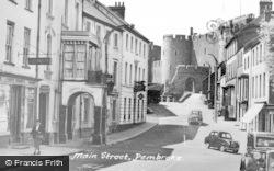 Pembroke, Main Street c.1950