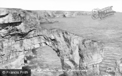 Pembroke, The Green Arch Of Wales c.1955