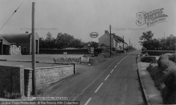 Photo of Pencader, Main Road c1960, ref. P204021