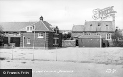 Pencoed, The School And Church c.1955