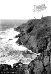 Pendeen, Cove And Lighthouse 1908