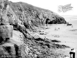 Pendine, The Rocks c.1955