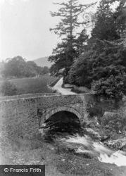 Rectory Bridge And Falls c.1955, Penmachno