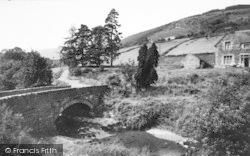 Rectory Falls And Bridge c.1955, Penmachno