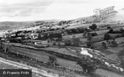 Penmachno, The River And Stepping Stones c.1955