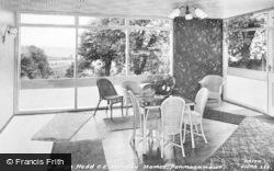 Penmaenmawr, Bryn Hedd, C Of E Holiday Home, Sun Lounge c.1960