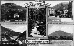Penmaenmawr, Five View Composite c.1931
