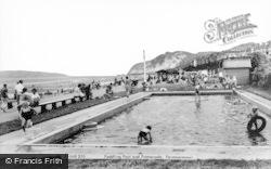 Penmaenmawr, Paddling Pool And Promenade c.1960
