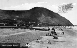 Penmaenmawr, Promenade And Beach c.1931