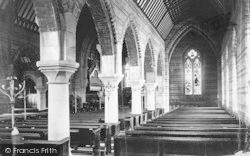 Penmaenmawr, St Seiriol's Church, Across Nave 1887