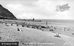 Penmaenmawr, The Beach c.1955
