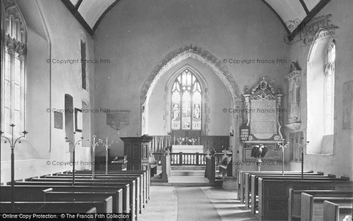 Photo of Penmark, Church Interior 1936