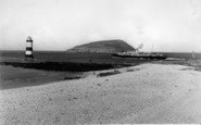 Penmon, Puffin Island And Lighthouse c.1950