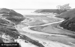 Pennard, Threecliff And Oxwich From Pennard c.1935