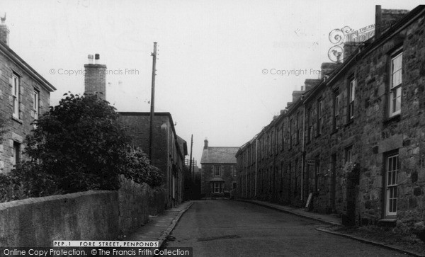 Penponds, Fore Street c1960