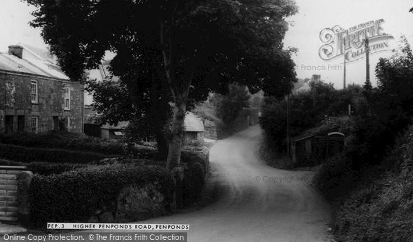 Penponds, Higher Penponds Road c1960