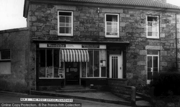 Penponds, the Post Office c1960