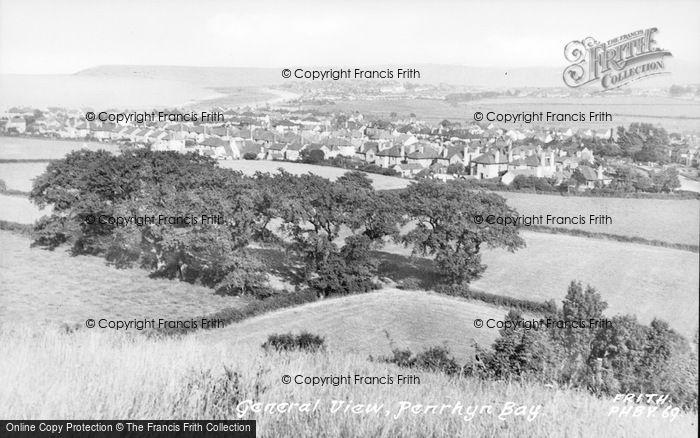 Photo of Penrhyn Bay, General View c.1955