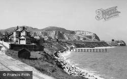 Penrhyn Bay, Little Orme And Beach c.1939