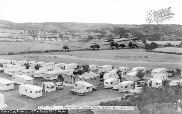 Photo of Penrhyn Bay, Penrhyn Hall Caravan Parks c.1965