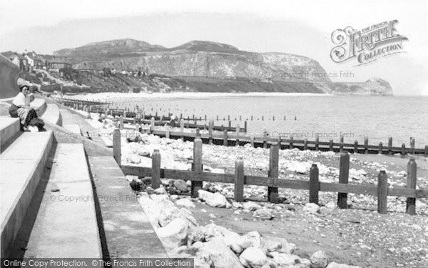 Photo of Penrhyn Bay, The Beach 1955