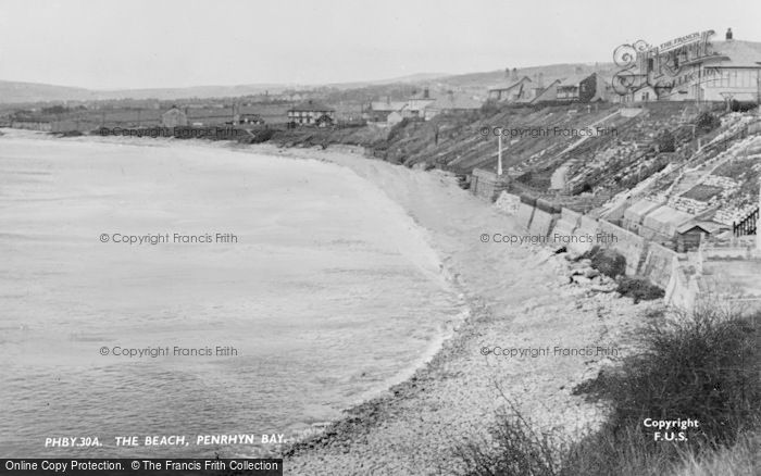 Photo of Penrhyn Bay, The Beach c.1939