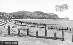 Penrhyn Bay, The Beach c.1955