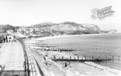 Penrhyn Bay, The Promenade And Beach c.1960