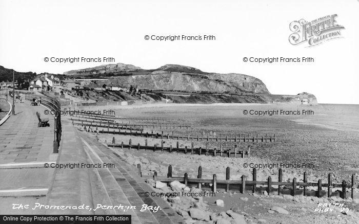 Photo of Penrhyn Bay, The Promenade c.1955