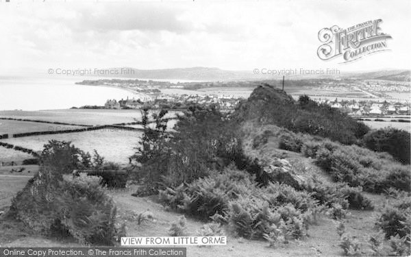 Photo of Penrhyn Bay, View From Little Orme 1963