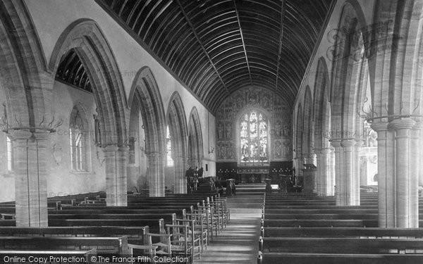 Photo of Penryn, Church Of St Gluvias, Interior 1890