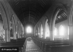 Penryn, Church Of St Gluvias, Interior c.1933