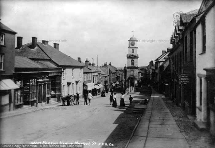Photo of Penryn, Higher Market Street And Town Hall 1904