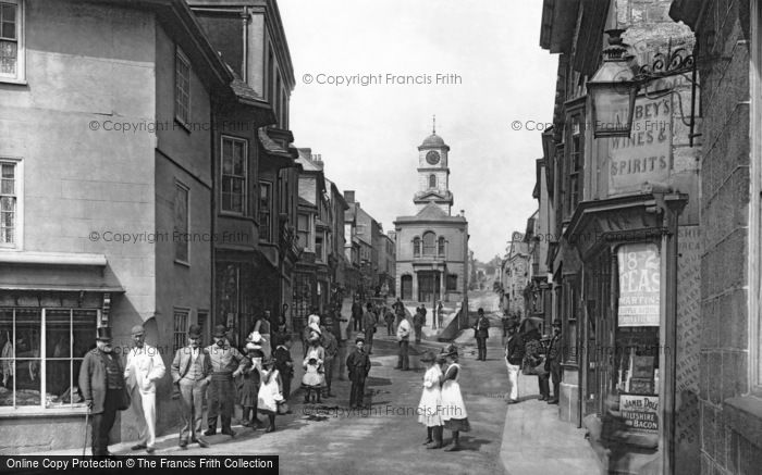 Photo of Penryn, Looking Towards The Town Hall 1890