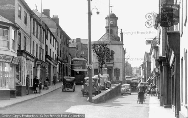 Photo of Penryn, Town Clock From Lower Market Street c.1955