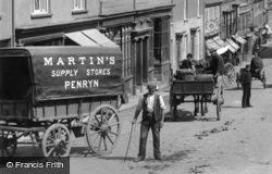 Penryn, Waggon In Market Street 1897