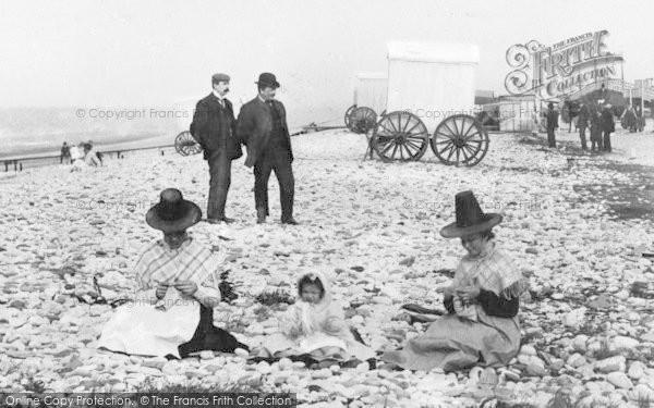 Photo of Pensarn, Welsh Ladies On The Beach c.1900