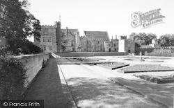 Penshurst, Penshurst Place, The Gardens c.1955