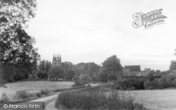 Penshurst, The Church From The River c.1939