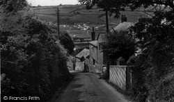 Pentewan, View From The Coast Road c.1955