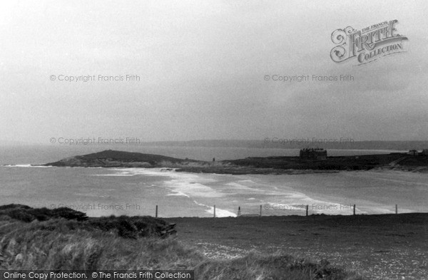 Photo of Pentire, Fistral Bay From Coast Road c.1955