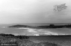 Pentire, Fistral Bay From Coast Road c.1955