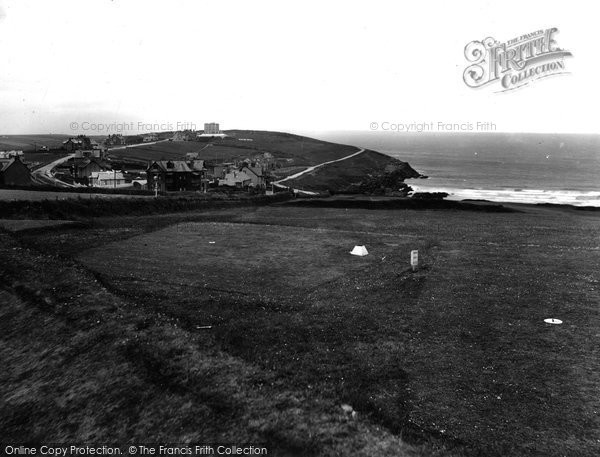 Photo of Pentire, From Golf Links 1930