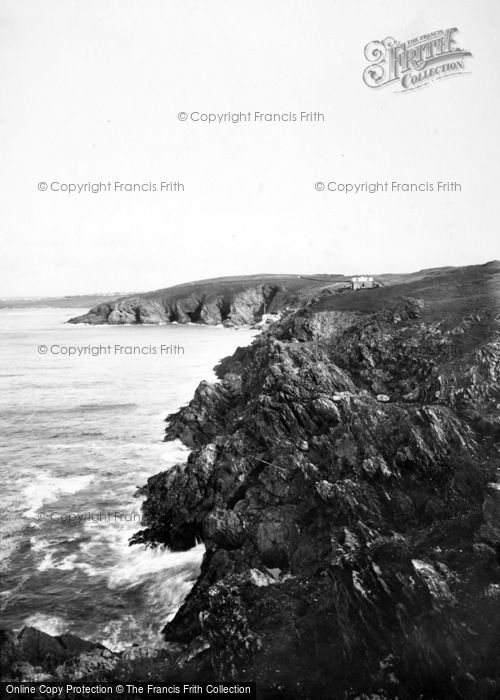 Photo of Pentire, Rocky Seascape 1918