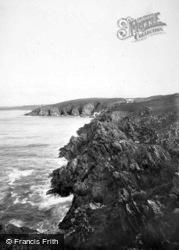 Pentire, Rocky Seascape 1918, West Pentire