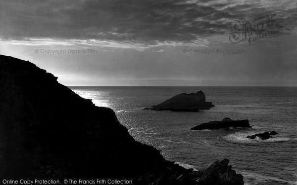 Photo of Pentire, Sunset Off West Pentire Head 1918