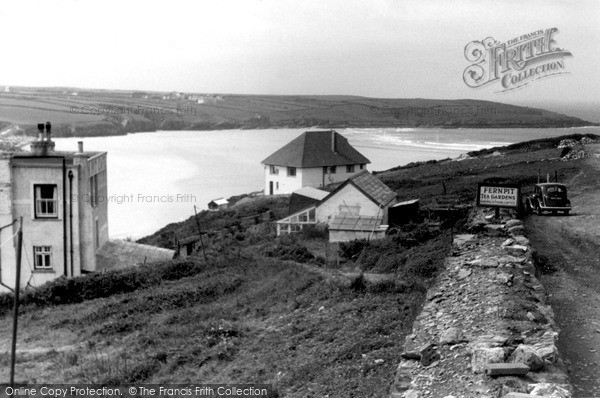 Photo of Pentire, The Sands From Fernpit Tea Gardens c.1950