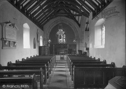 Pentraeth, St Mary's Church Interior c.1933